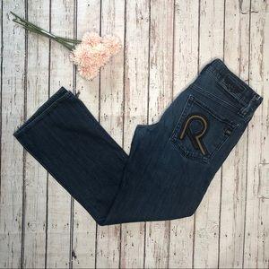 Rock & Republic Mid Rise Straight Leg Cut Jeans